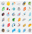 computer part icons set isometric style vector image vector image