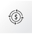 currency exchange icon symbol premium quality vector image vector image