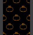 cute background pumpkin vector image vector image