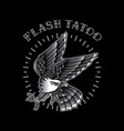 eagle flash tattoo is simple vector image vector image
