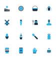 farm icons colored set with spatula farmer corn vector image