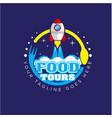 food circle logo designs vector image vector image