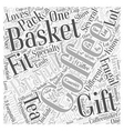 Frugal Gift Baskets Word Cloud Concept vector image vector image
