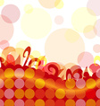 Funky dot background vector image