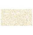 golden polka dot small confetti on white vector image vector image