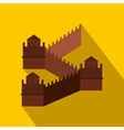 Great Wall of China icon flat style