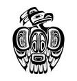 haida thunderbird tattoo vector image vector image