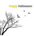 happy halloween bats tree branch image vector image