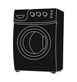 household washing machine dry cleaning single vector image vector image