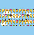 ice cream cones on a bright blue sky vector image