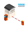 isometric parking entrance city elements vector image vector image