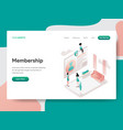 landing page template membership concept vector image vector image