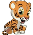Little funny tiger vector image vector image