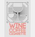 lounge bar menu geometric pattern design vector image vector image