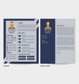 male resume and letter template vector image vector image