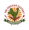 Mexican restaurant isolated icon vector image vector image