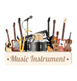 music instrument shop wood board vector image