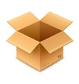 open box cardboard package vector image vector image