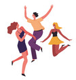 partying people female characters dancing and vector image vector image