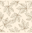 pattern with falling maple leaves vector image vector image
