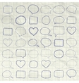 Pen Drawing Speech Bubbles Borders Frames vector image vector image