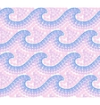 Pink trendy colors dotted mosaic waves seamless vector image vector image