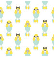 poodle cute blue and yellow seamless vector image vector image
