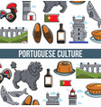 portuguese culture seamless pattern poster vector image vector image