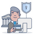 secure shopping vector image vector image