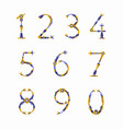 Set of numbers for robot font