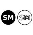 sm mark icon vector image vector image