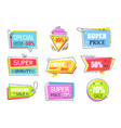 special offer labels with half price reduction vector image vector image