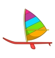 Sport boat with a sail icon cartoon style vector image vector image