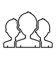 Teamwork people silhouette icon