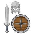 viking armor set - helmet shield and sword