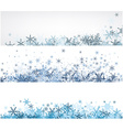 Winter banners set with blue snowflakes vector image vector image