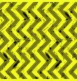 yellow grunge tire track zig-zag vector image vector image