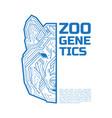 zoo genetics logo a half a dog coyote or wolf vector image vector image