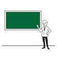 A teacher at the school board vector image