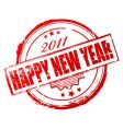 new year 2011 stamp vector image