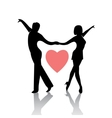 Dancing couple isolated on a white background vector image