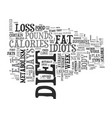 a review of the fat loss idiots diet text word vector image vector image