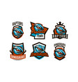 a set of emblems badges stickers logos of vector image