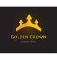 Abstract crown logo template for branding vector image vector image