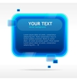 Abstract speech bubble vector image vector image
