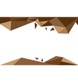 background trangle brown vector image