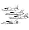 bae hawk vector image vector image