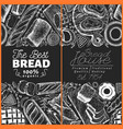 bakery top view frame hand drawn vector image vector image