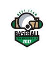 baseball championship 2017 best team logo vector image vector image