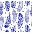 Beautiful Feather pattern seamless vector image vector image
